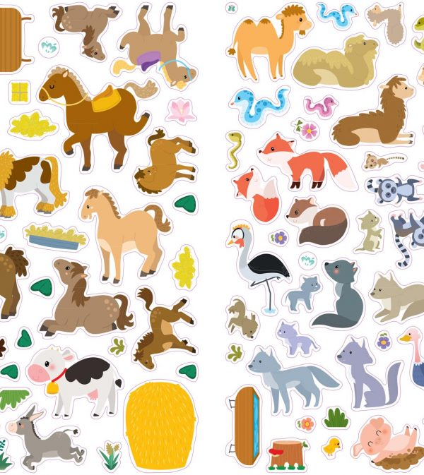Stickers animals Robins .indd